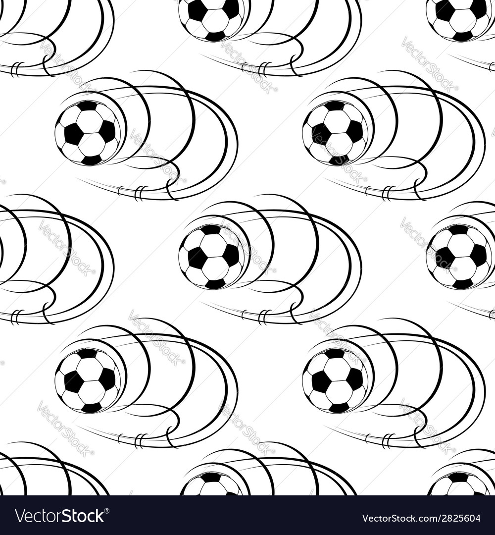 Seamless pattern of footballs or soccer balls vector | Price: 1 Credit (USD $1)