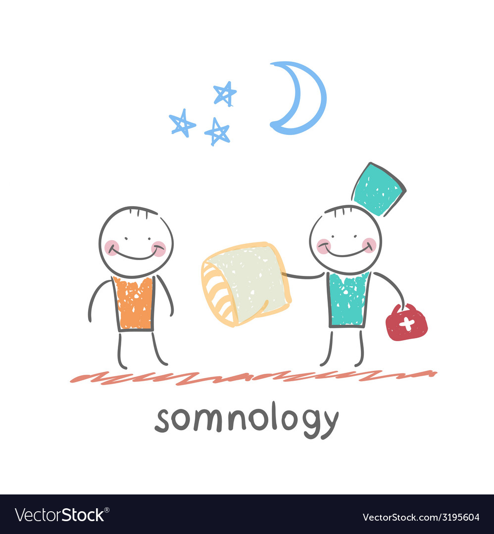 Somnology gives the patient a sleep pillow vector   Price: 1 Credit (USD $1)