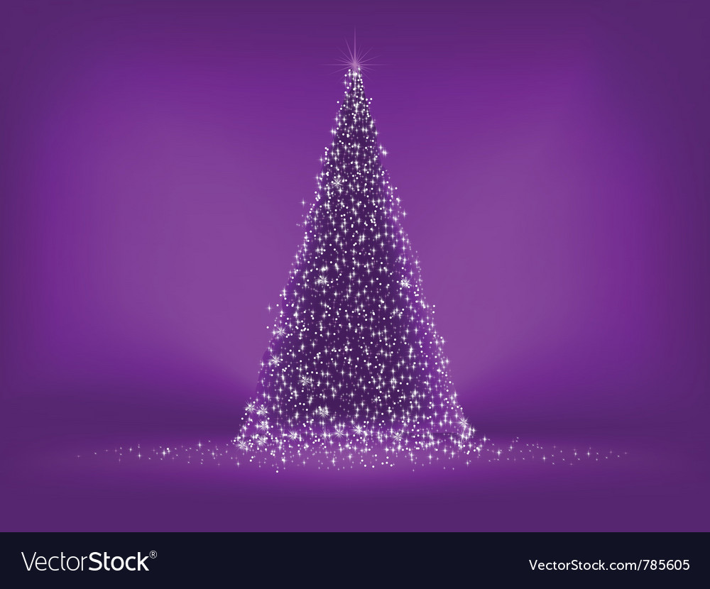 Abstract purple christmas tree vector | Price: 1 Credit (USD $1)