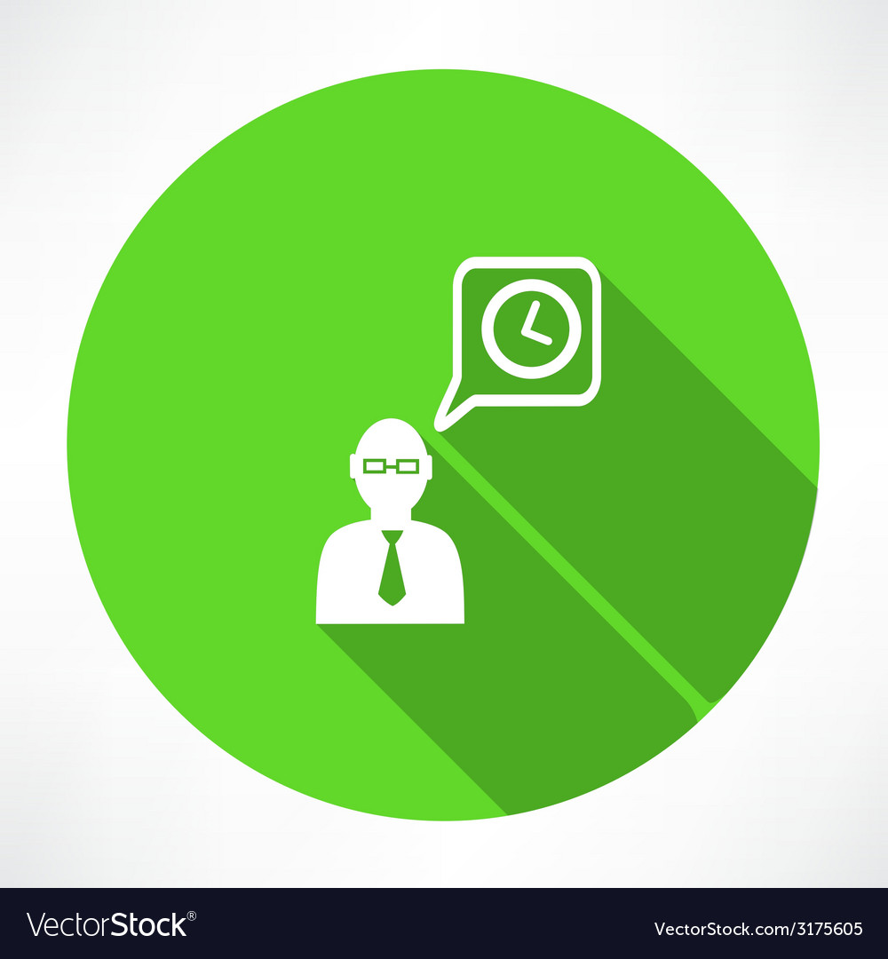 Businessman talk about time icon vector | Price: 1 Credit (USD $1)