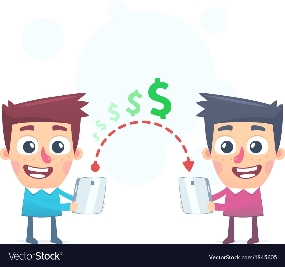 Easy way to send money vector | Price: 1 Credit (USD $1)