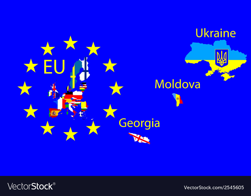 European union map vector | Price: 1 Credit (USD $1)