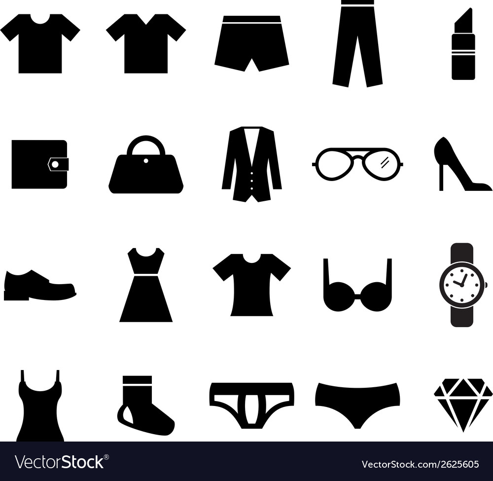 Fashion icon vector | Price: 1 Credit (USD $1)