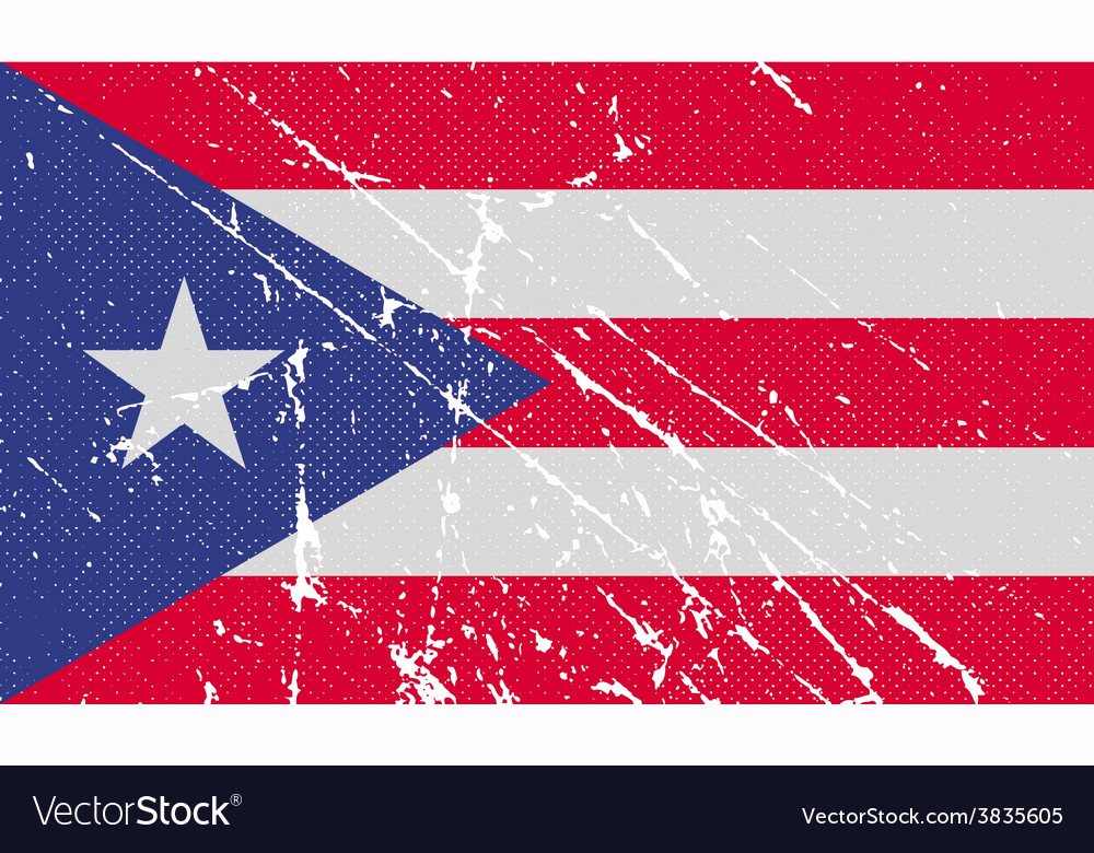 Flag of puerto rico with old texture vector   Price: 1 Credit (USD $1)