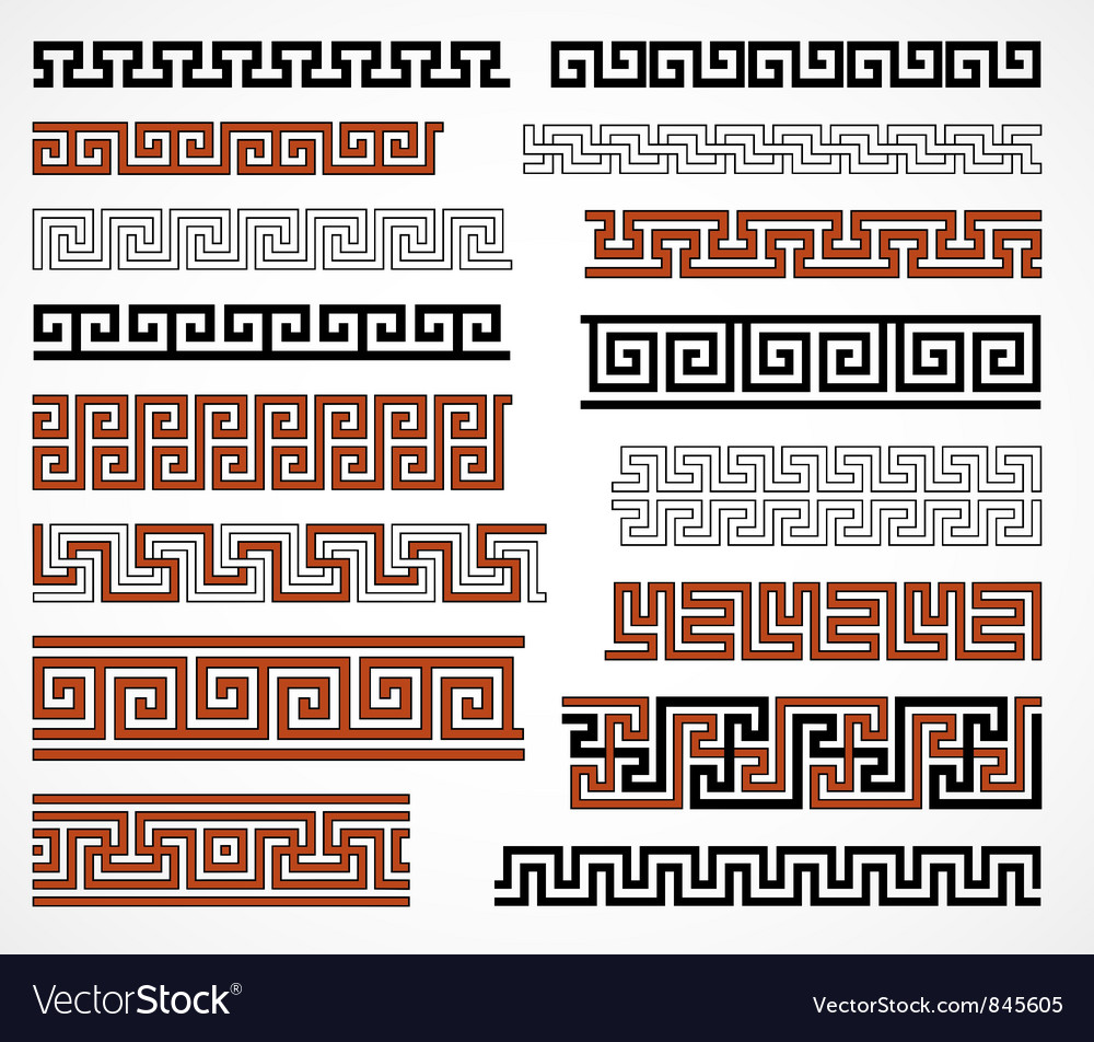 Greek style borders vector | Price: 1 Credit (USD $1)