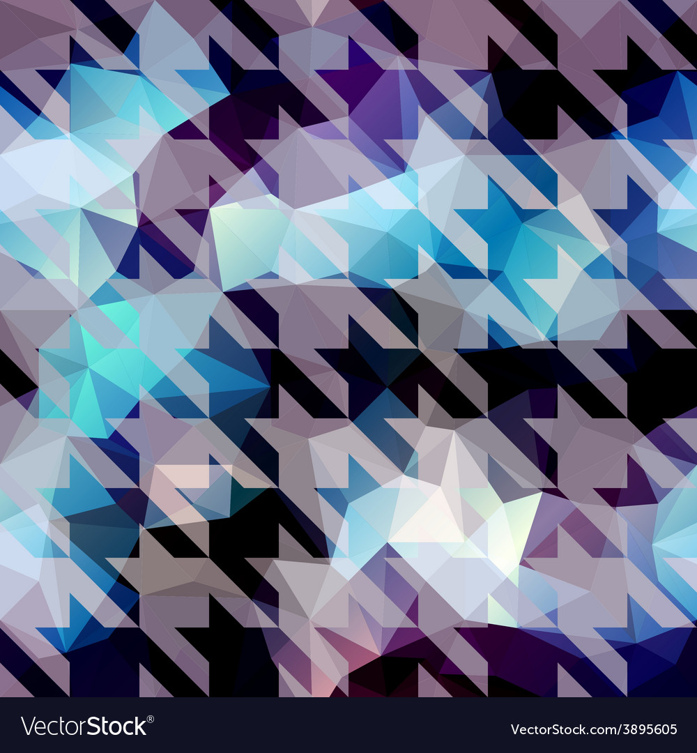 Houndstooth pattern on abstract geometric vector | Price: 1 Credit (USD $1)