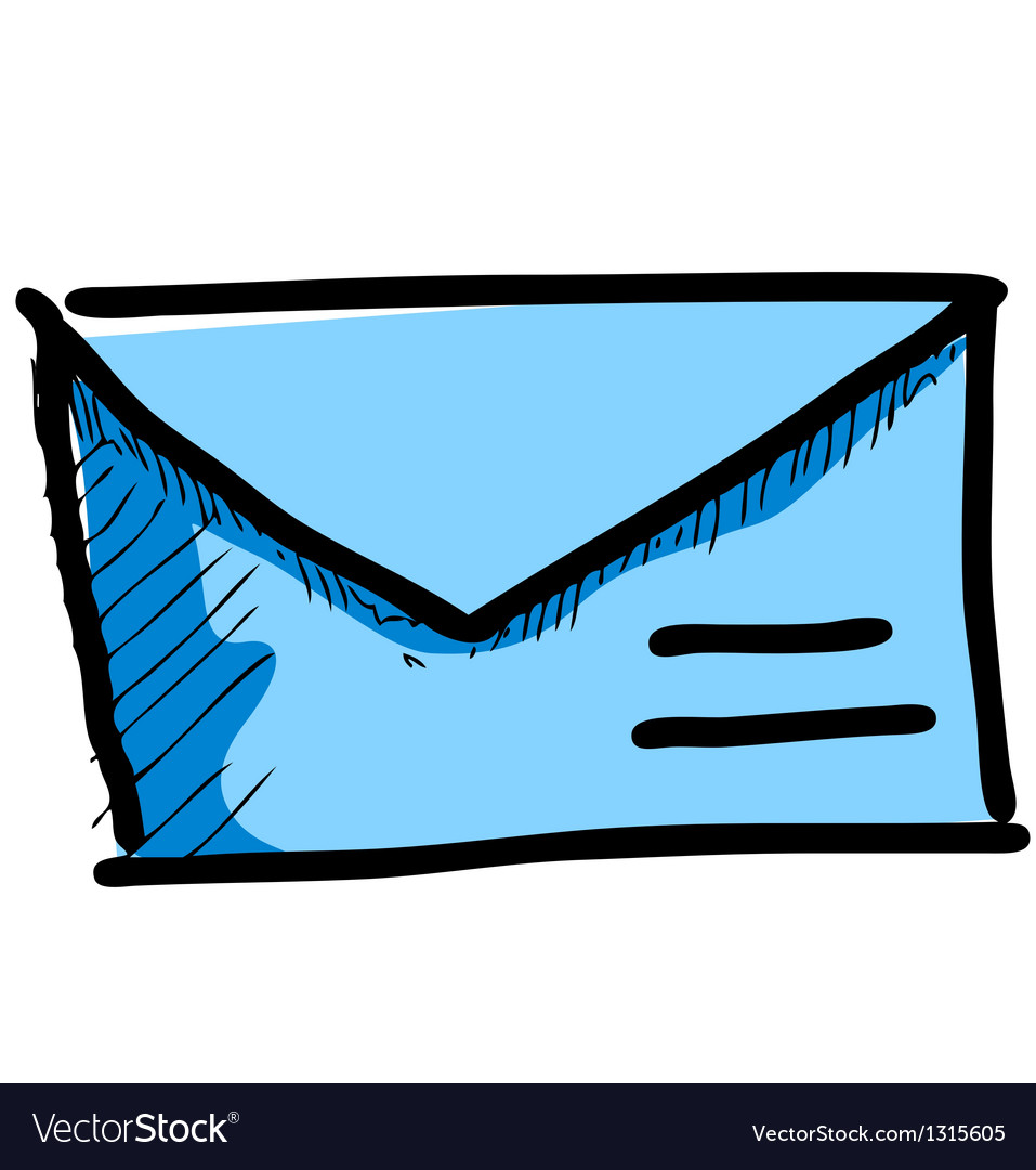 Mail icon sketch vector | Price: 1 Credit (USD $1)