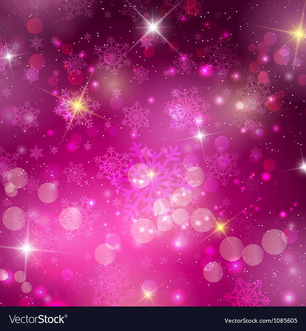 Pink christmas background vector | Price: 1 Credit (USD $1)