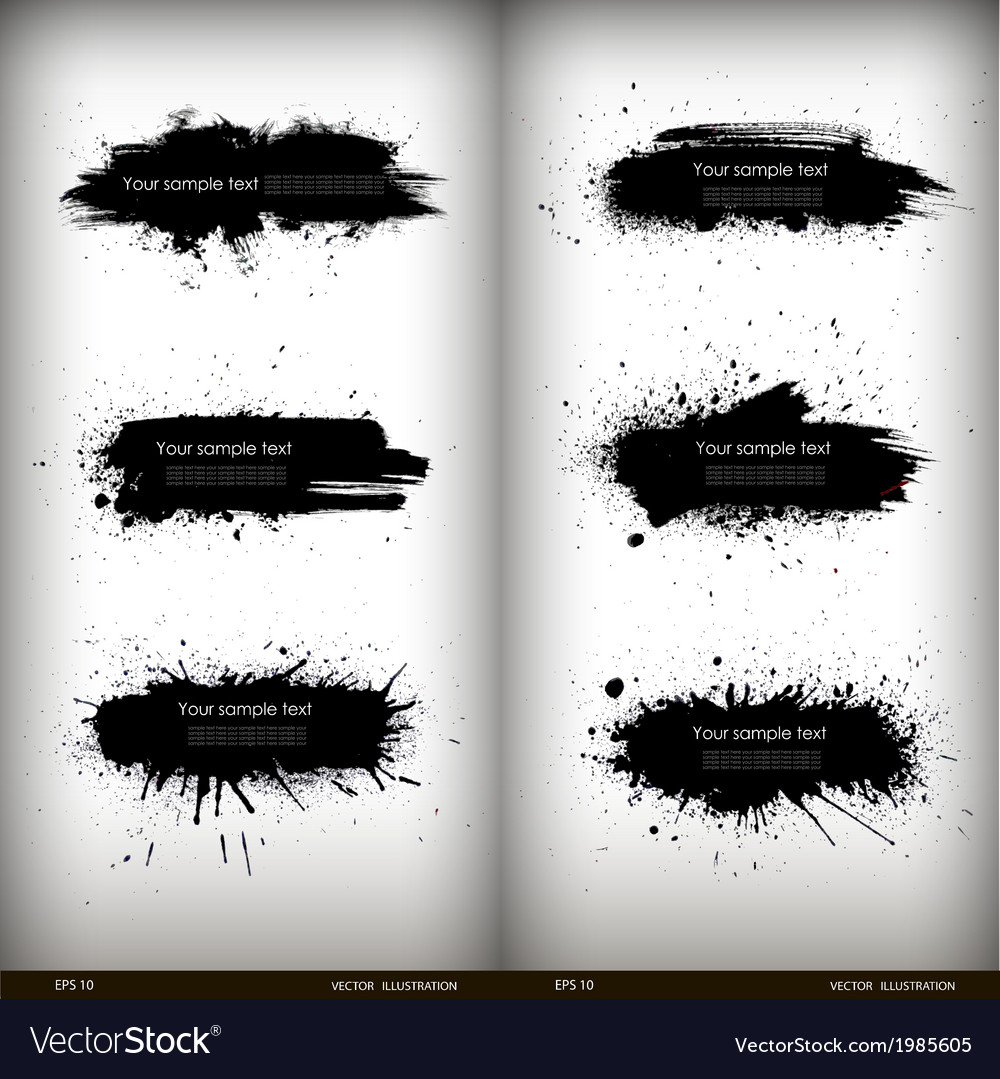 Splash banners set vector | Price: 1 Credit (USD $1)