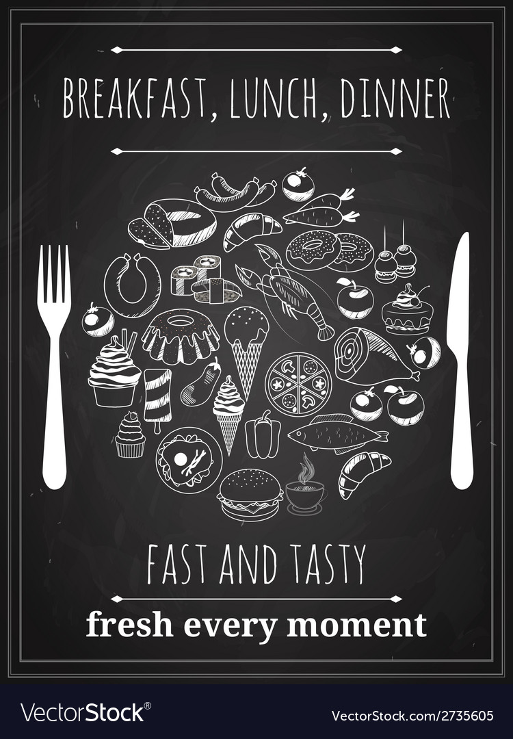 Vintage food poster vector | Price: 1 Credit (USD $1)
