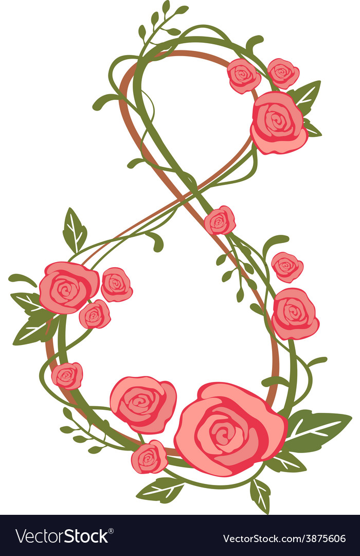 8 march international womens day vector | Price: 1 Credit (USD $1)