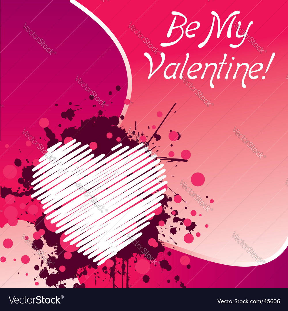 Be my valentine's vector | Price:  Credit (USD $)