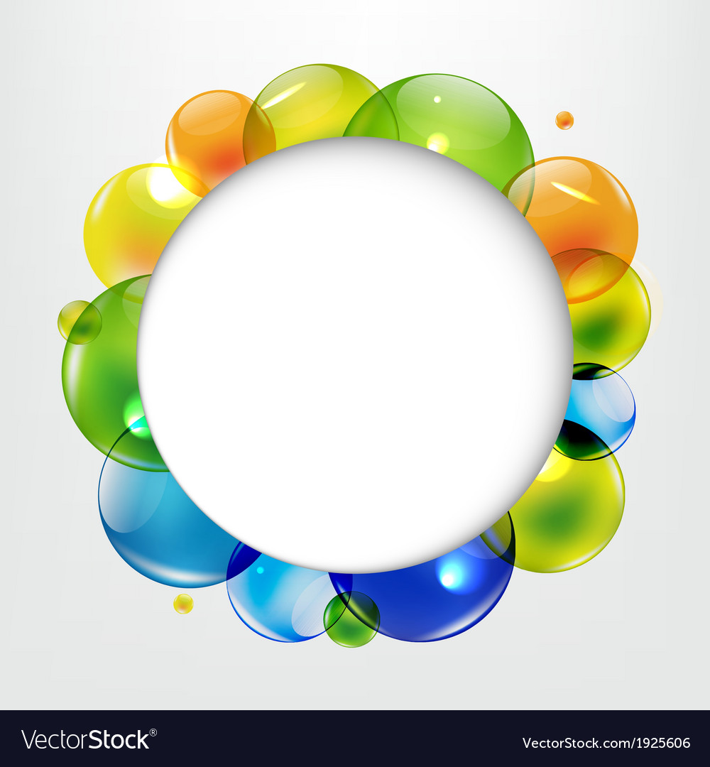 Dialog balloons with color balls vector | Price: 1 Credit (USD $1)