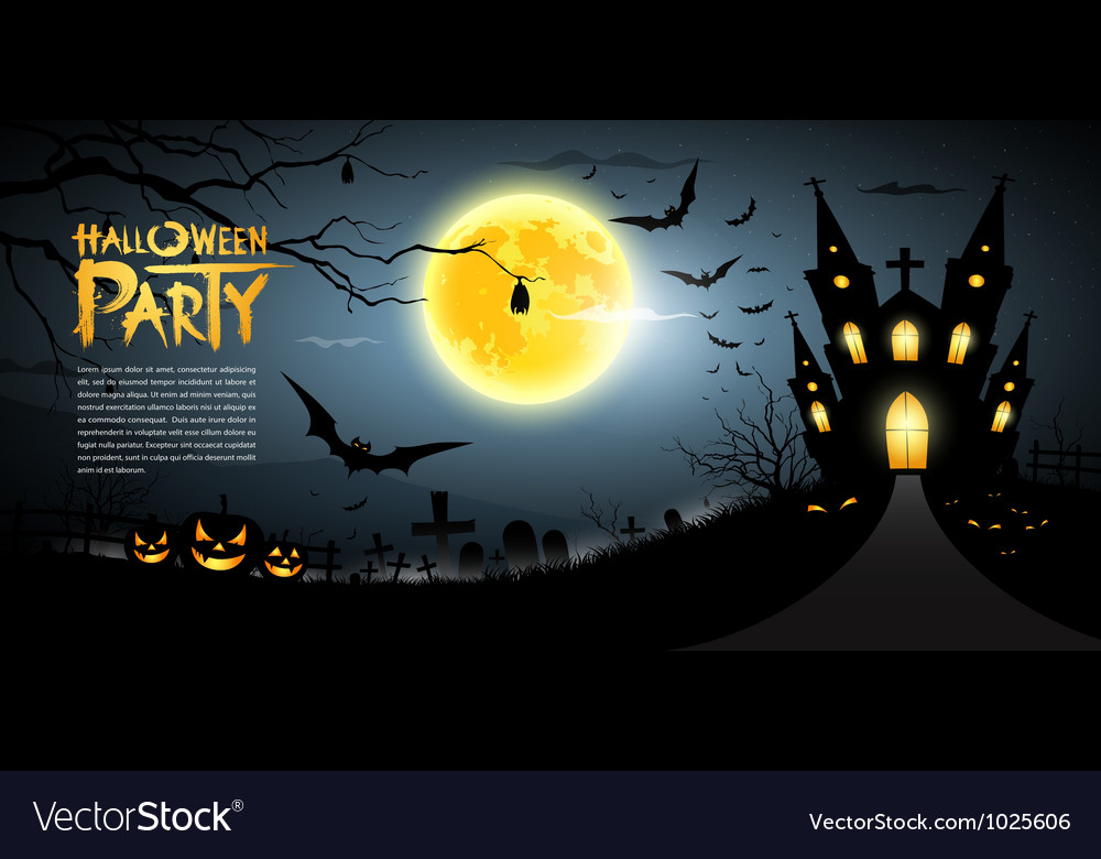 Happy halloween scary background vector   Price: 3 Credit (USD $3)