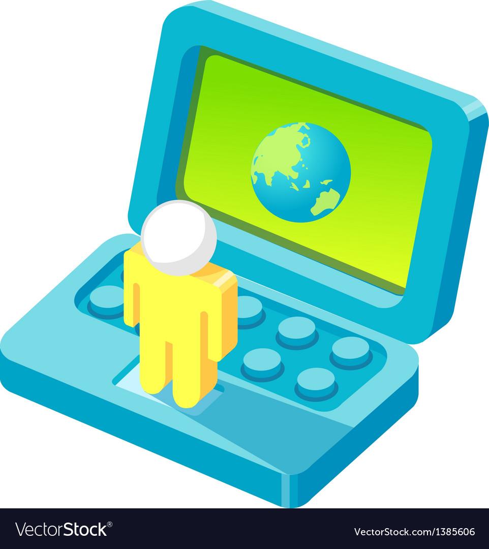 Icon monitor vector   Price: 1 Credit (USD $1)