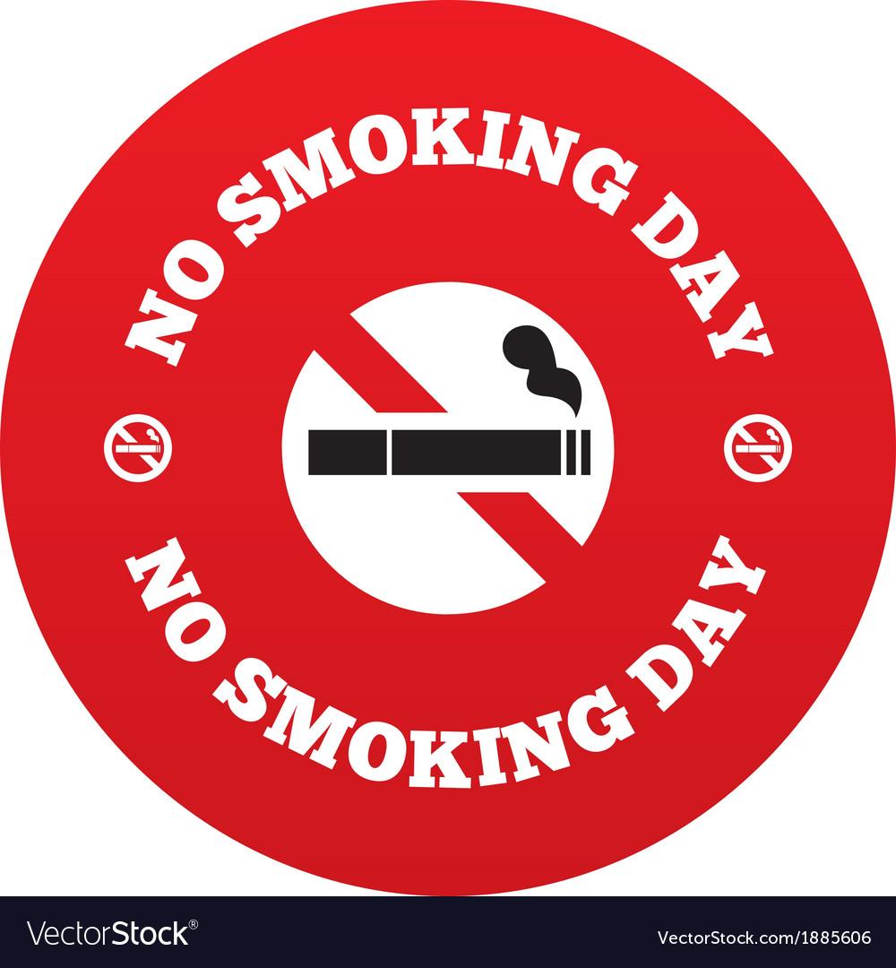 No smoking day sign quit smoking day symbol vector | Price: 1 Credit (USD $1)