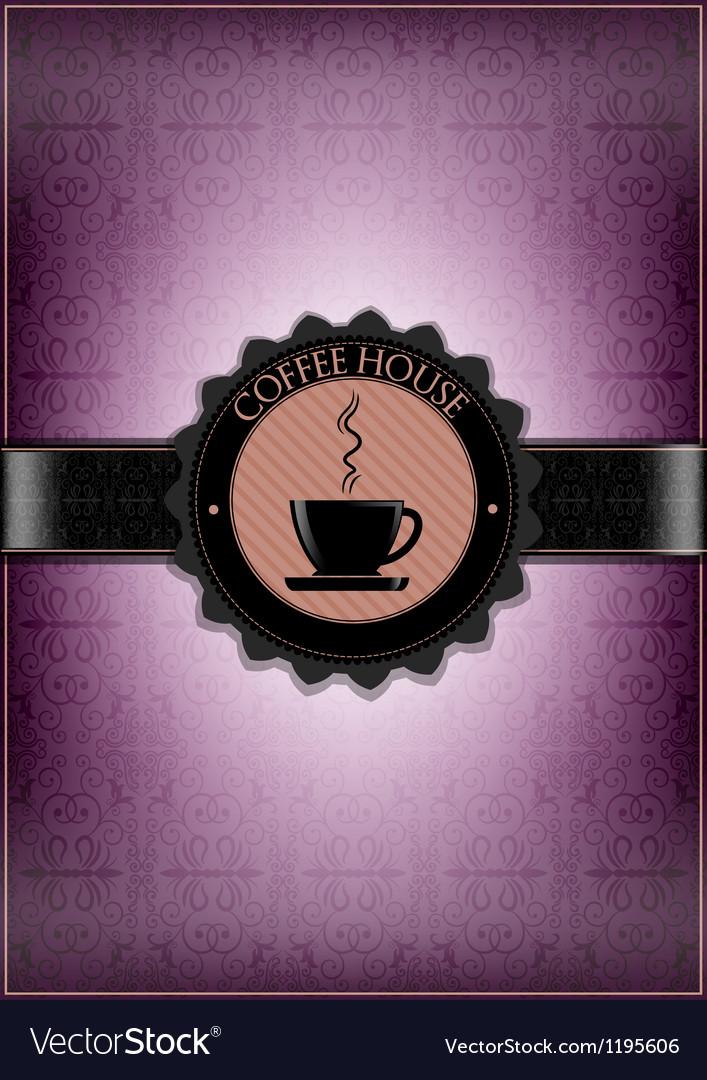 Purple coffee house desing vector | Price: 1 Credit (USD $1)