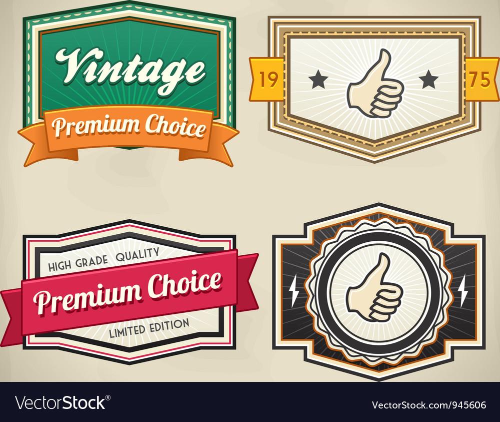 Retro label set 3 vector | Price: 3 Credit (USD $3)