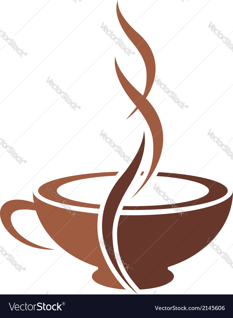 Stylish cup of steaming cappuccino coffee vector | Price: 1 Credit (USD $1)