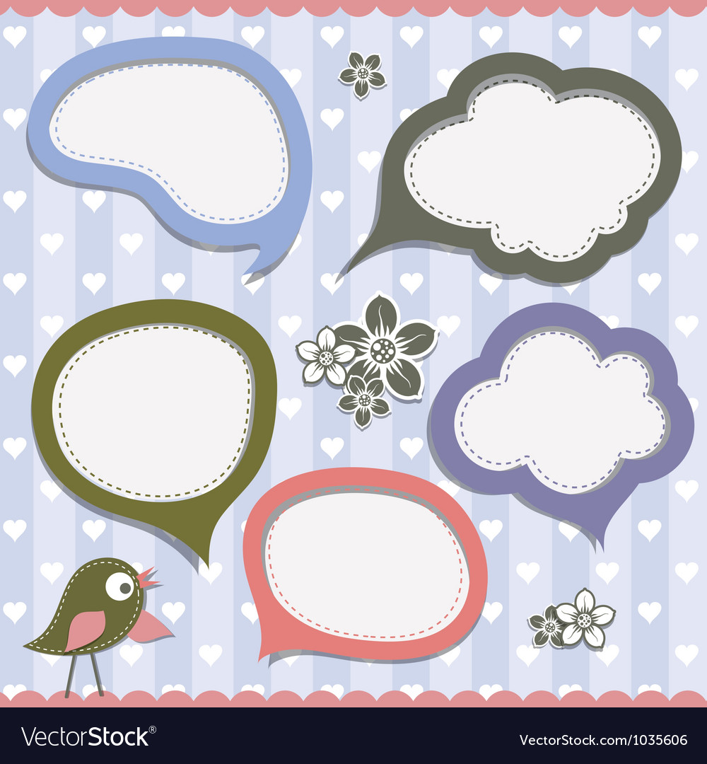 Template speak bubbles vector | Price: 1 Credit (USD $1)