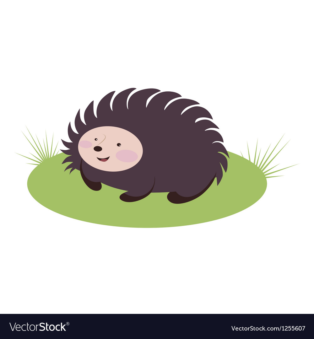 Amusing hedgehog vector | Price: 1 Credit (USD $1)