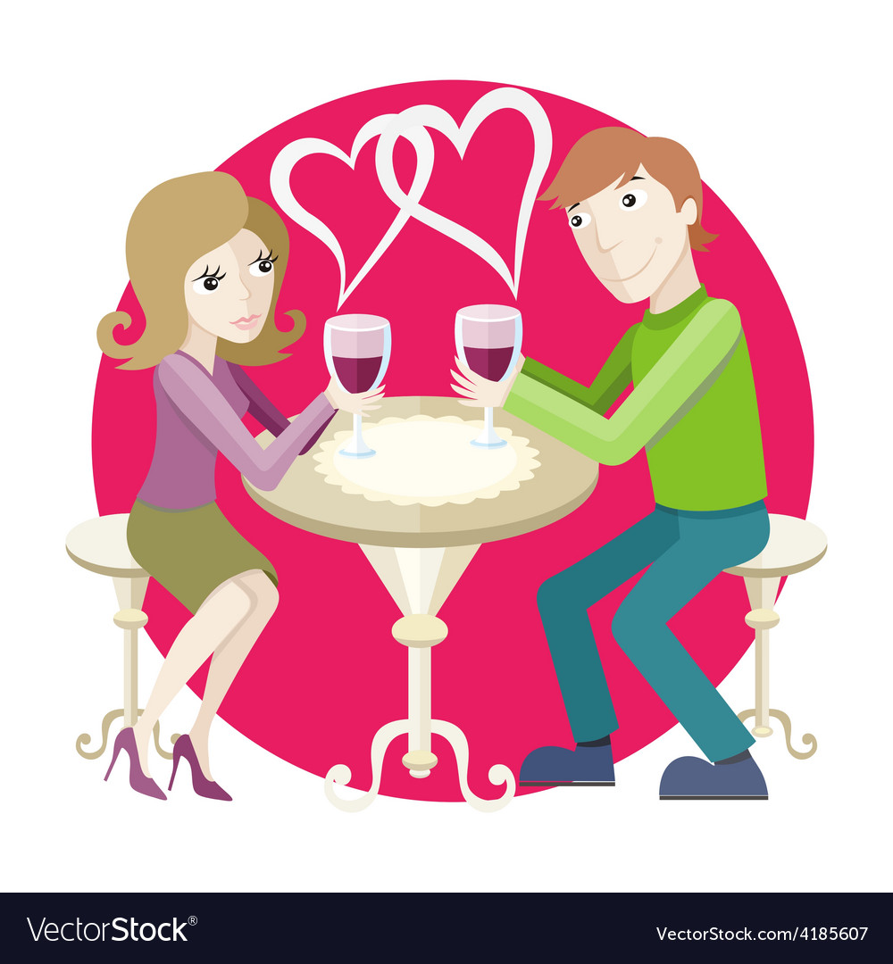Date at restaurant vector   Price: 1 Credit (USD $1)