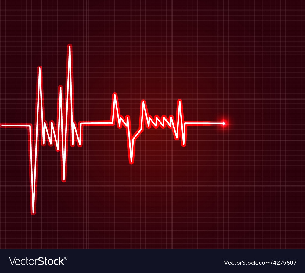 Electrowave heart beat cardiogram pulse icon vector | Price: 1 Credit (USD $1)