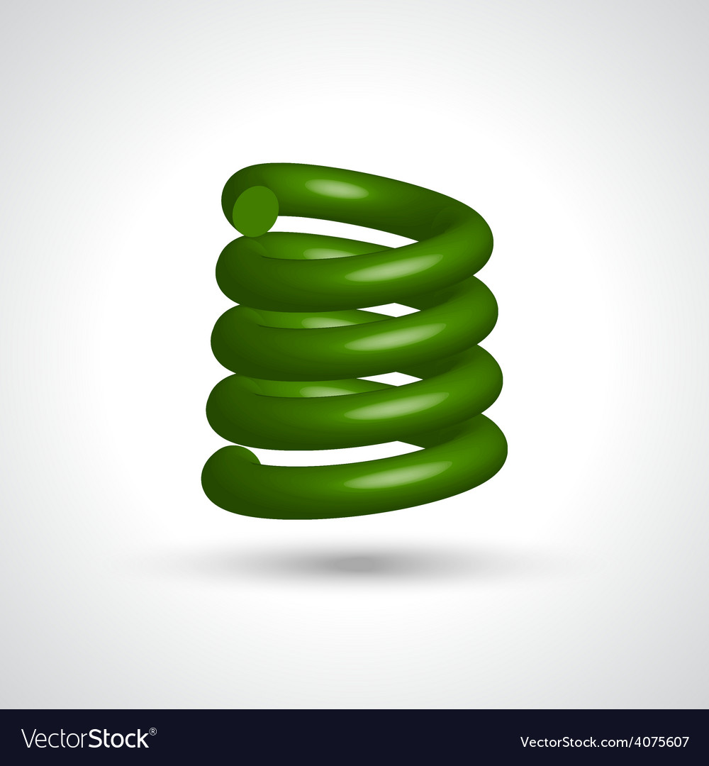 Green isolated spiral vector | Price: 1 Credit (USD $1)