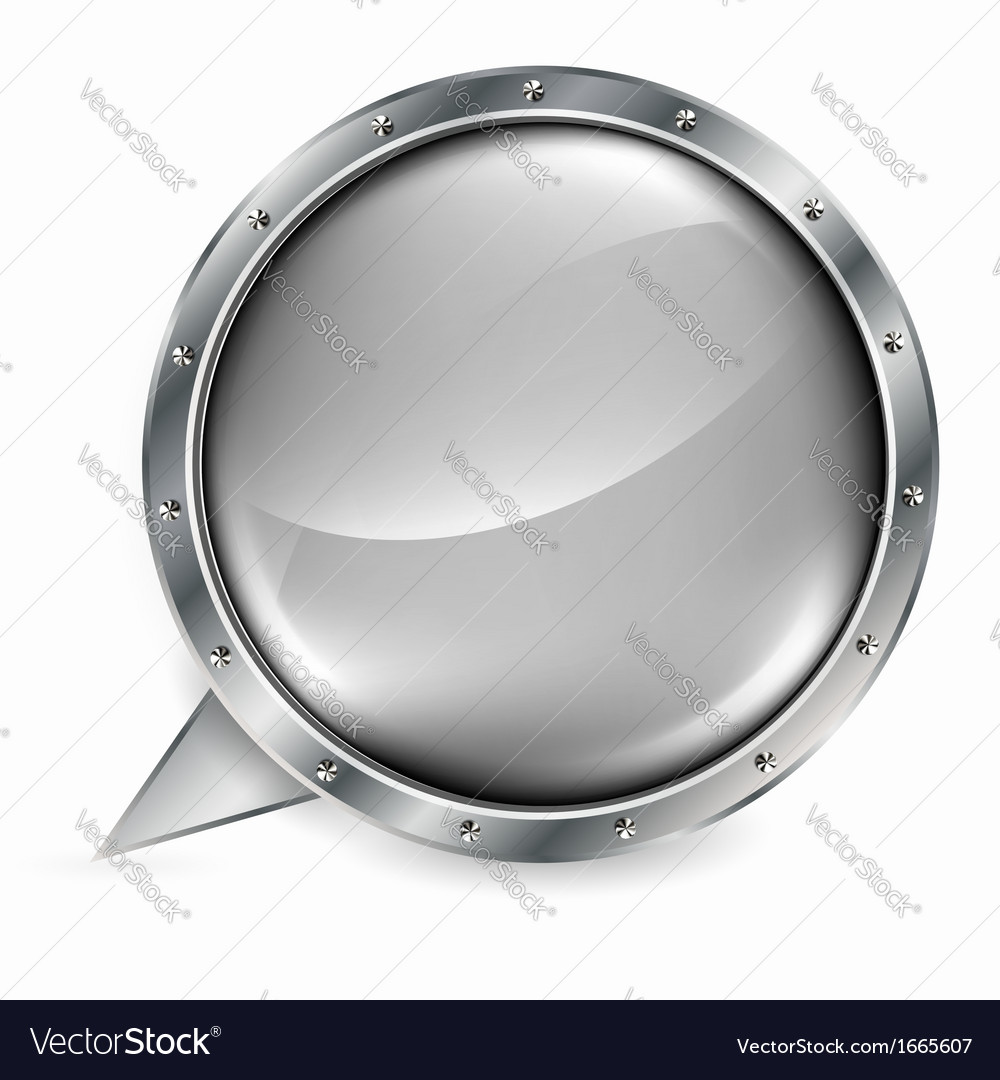 Metal banner with huge space for information vector | Price: 1 Credit (USD $1)
