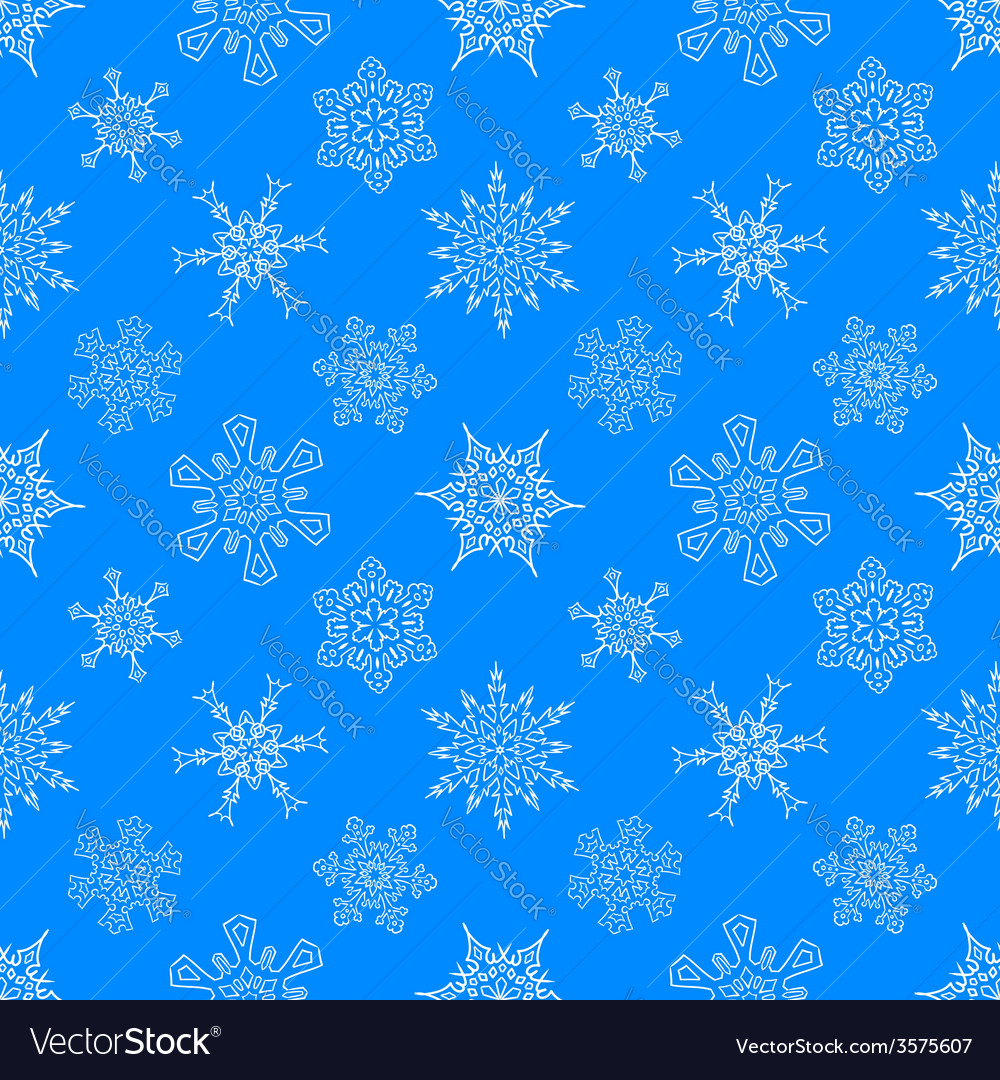 Seamless christmas blue pattern with drawn vector | Price: 1 Credit (USD $1)