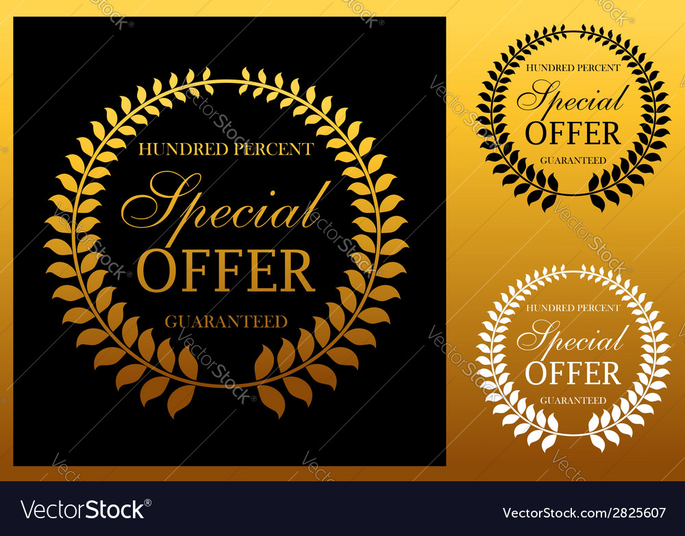 Special offer label or emblem vector | Price: 1 Credit (USD $1)