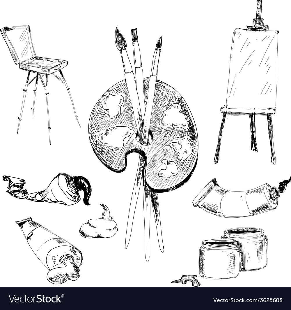 Accessories for painting vector | Price: 1 Credit (USD $1)