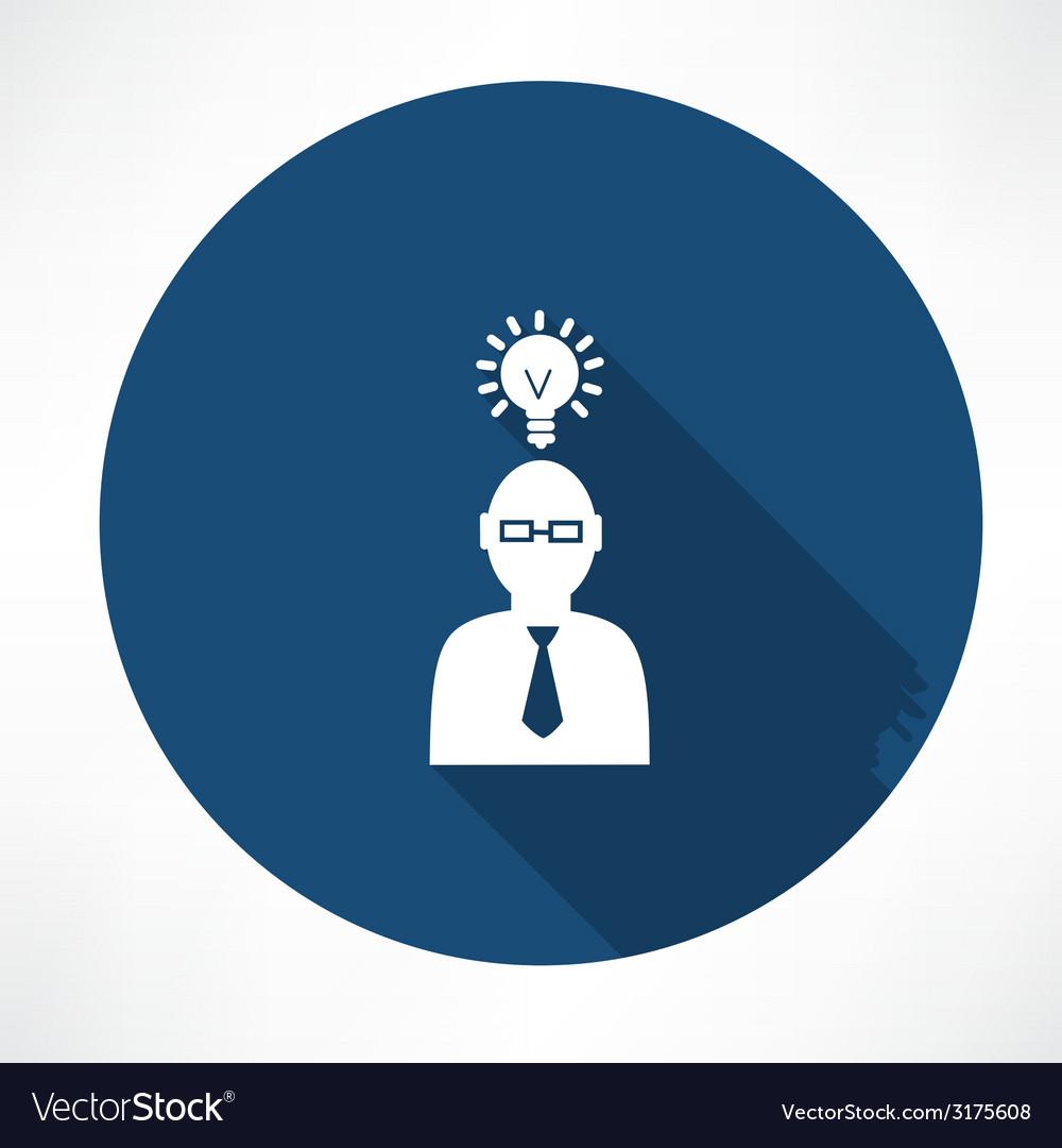 Businessman with a idea vector | Price: 1 Credit (USD $1)