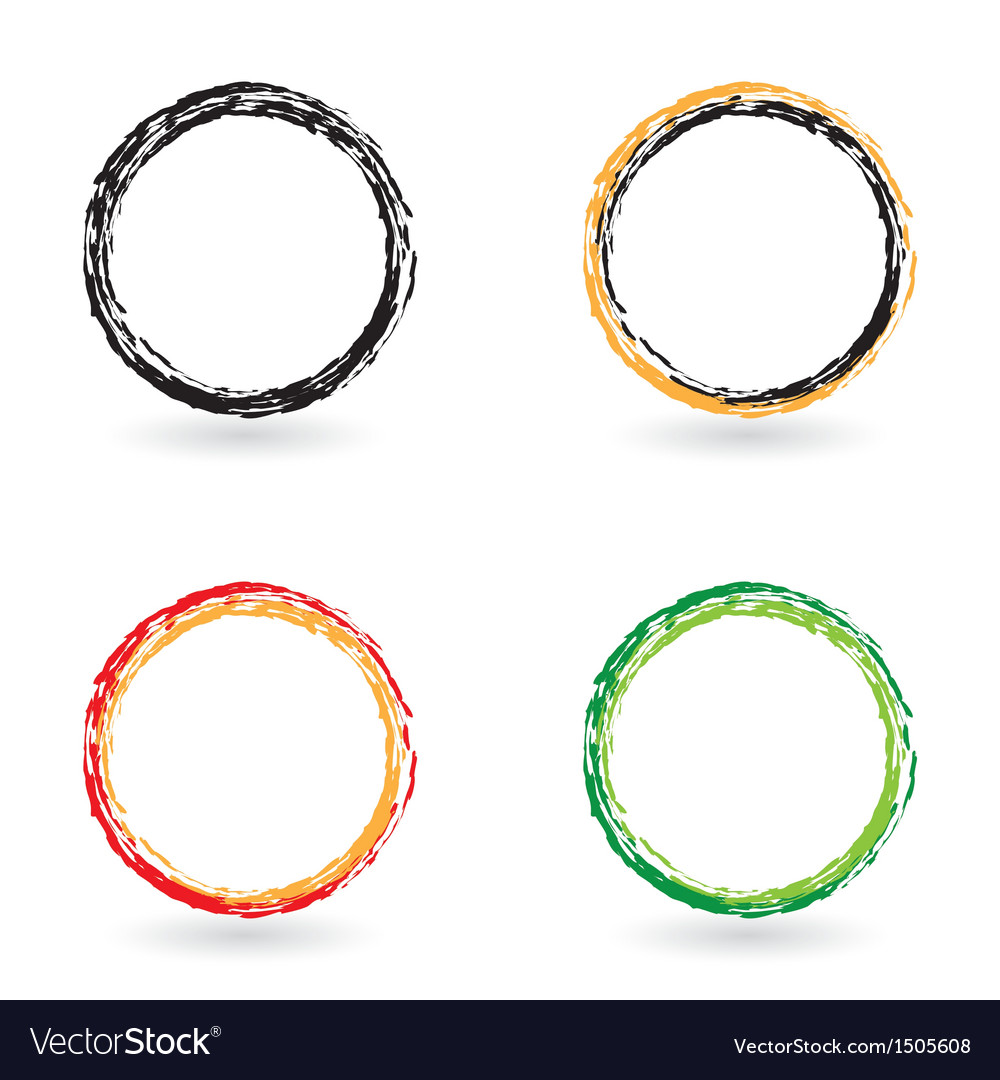 Colored circles vector | Price: 1 Credit (USD $1)
