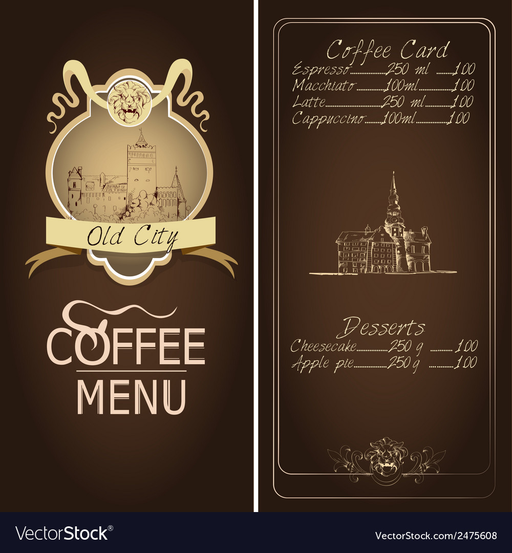 Restaurant old city menu template vector | Price: 1 Credit (USD $1)