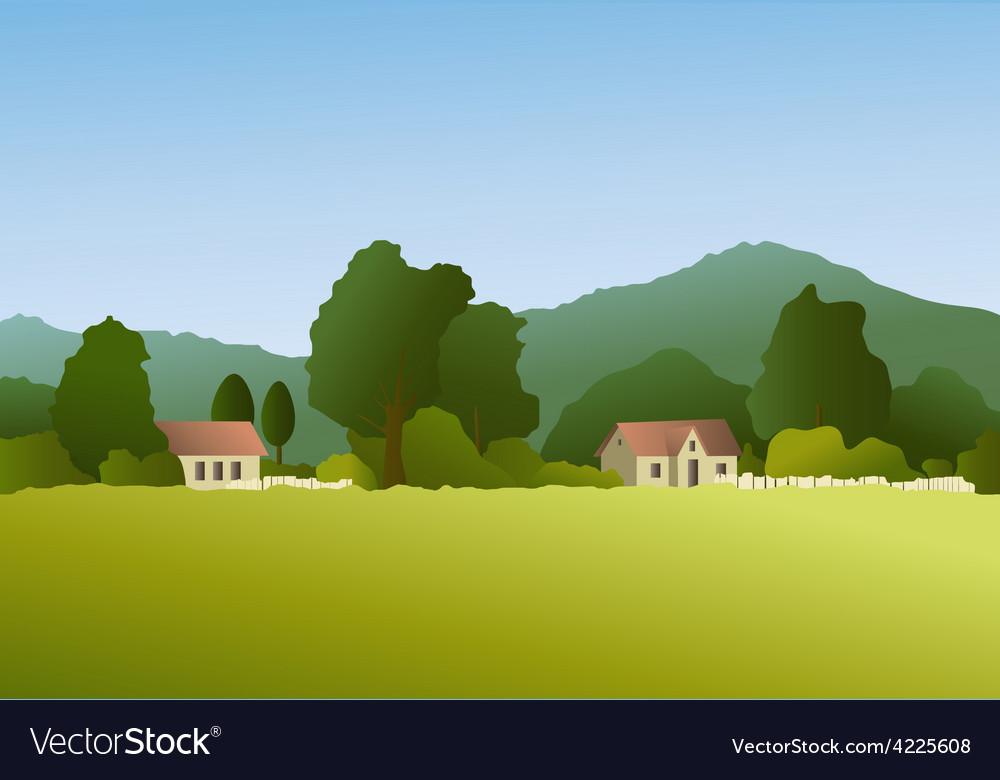 Rural landscape vector | Price: 3 Credit (USD $3)