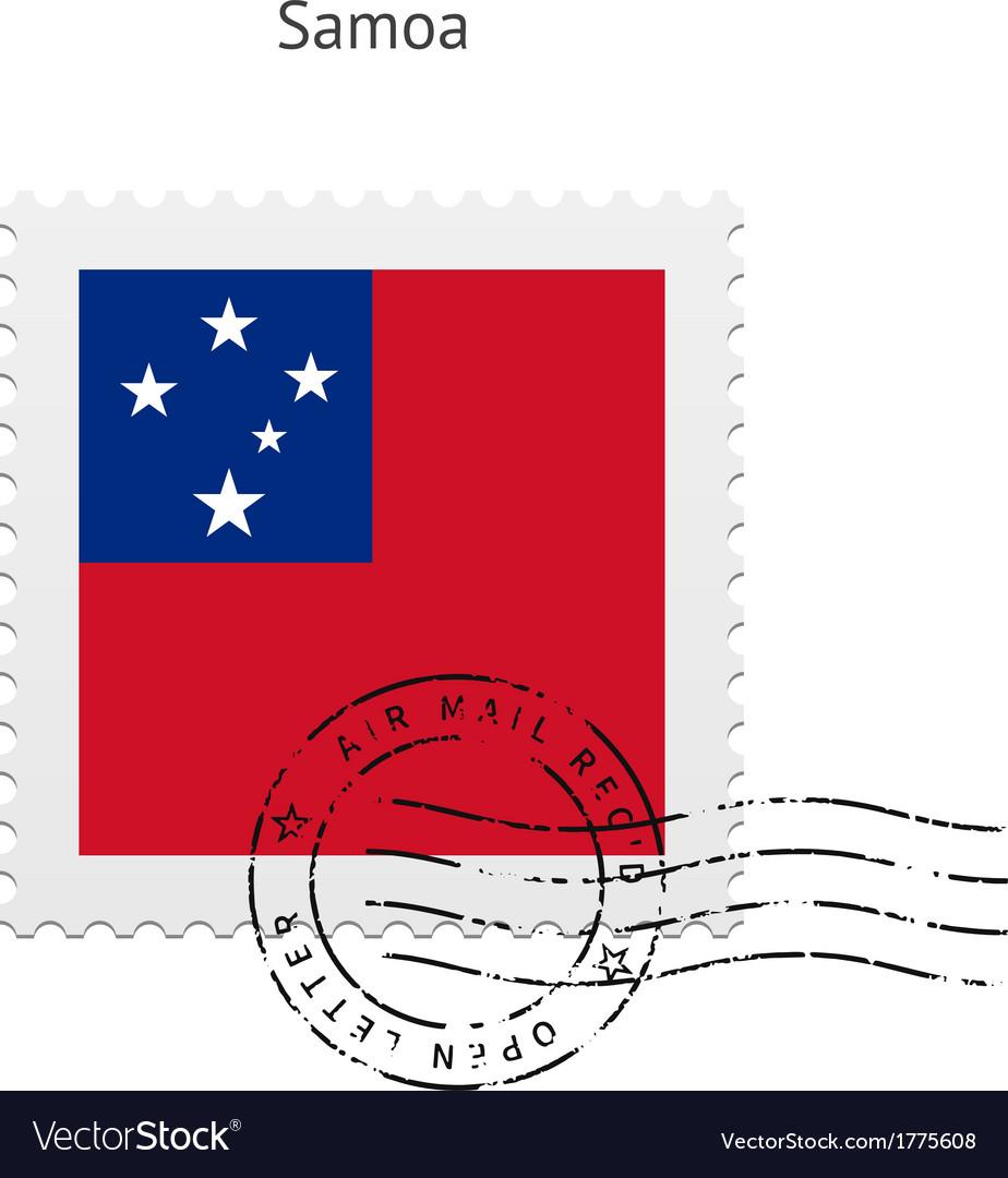 Samoa flag postage stamp vector | Price: 1 Credit (USD $1)