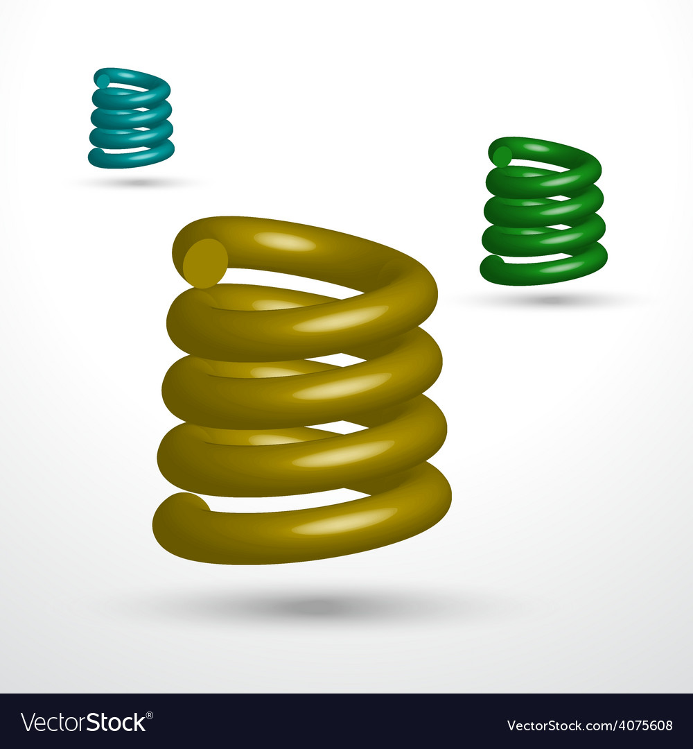 Three isolated springs vector | Price: 1 Credit (USD $1)