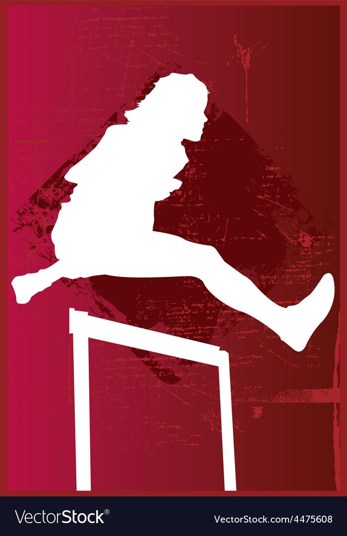 Woman hurdling vector | Price: 1 Credit (USD $1)