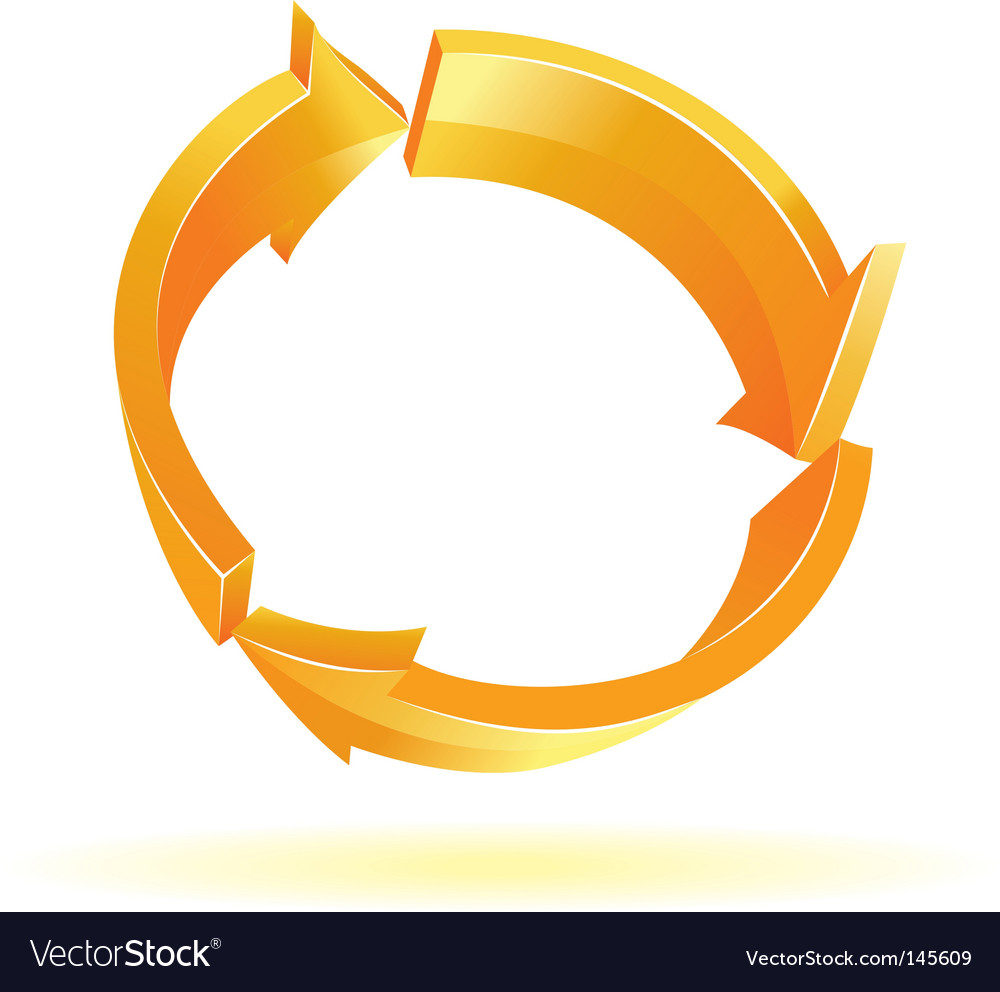 3d orange arrows vector | Price: 1 Credit (USD $1)