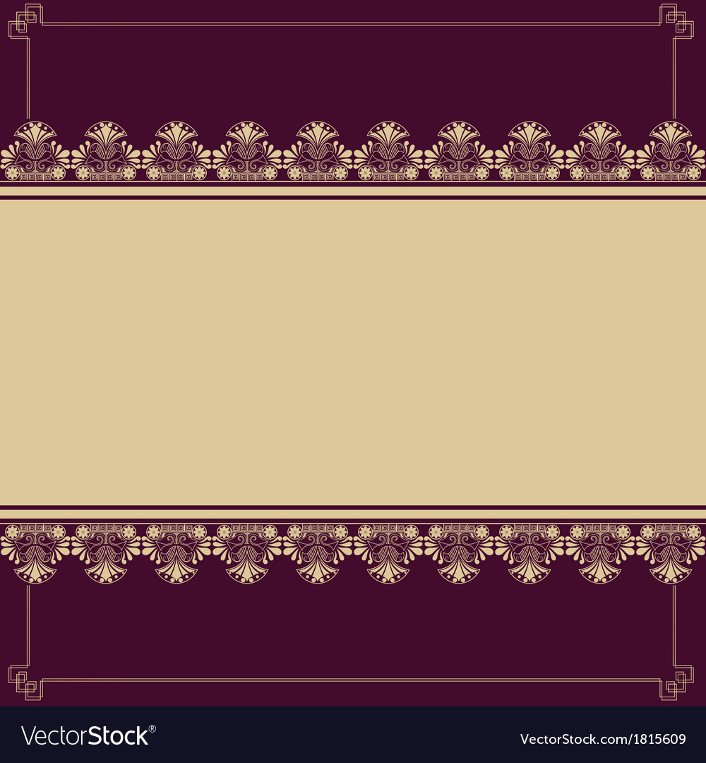 Background with antique design elements vector | Price: 1 Credit (USD $1)