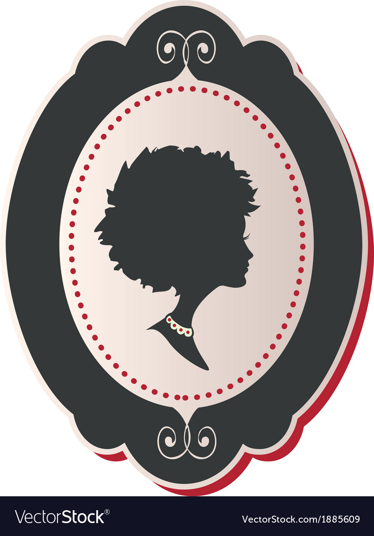 Cameo lady afro hair vector | Price: 1 Credit (USD $1)