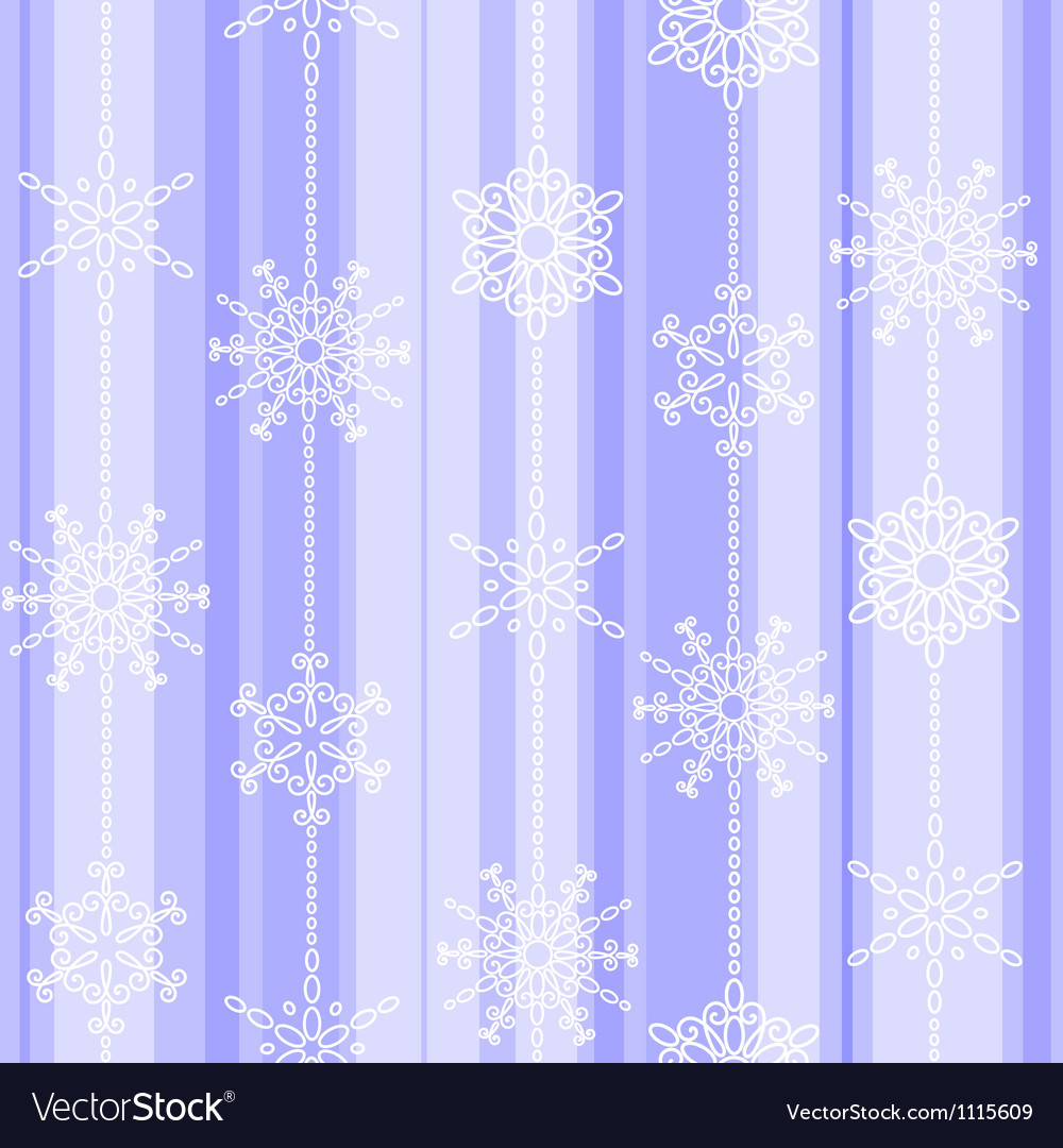 Flake winter seamless pattern vector | Price: 1 Credit (USD $1)