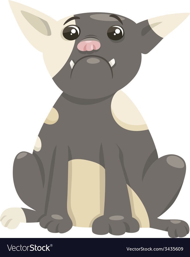 French bulldog dog cartoon vector | Price: 1 Credit (USD $1)
