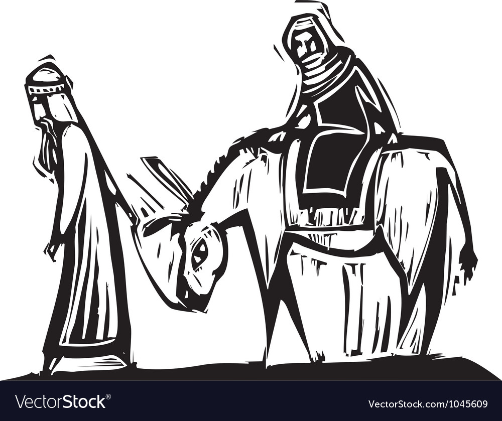 Mary and joseph vector | Price: 1 Credit (USD $1)