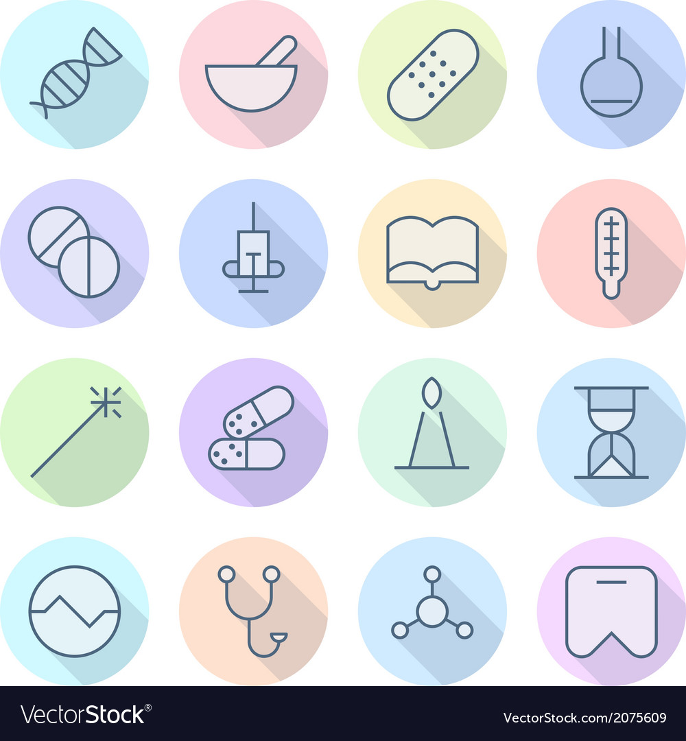 Thin line icons for medical vector | Price: 1 Credit (USD $1)