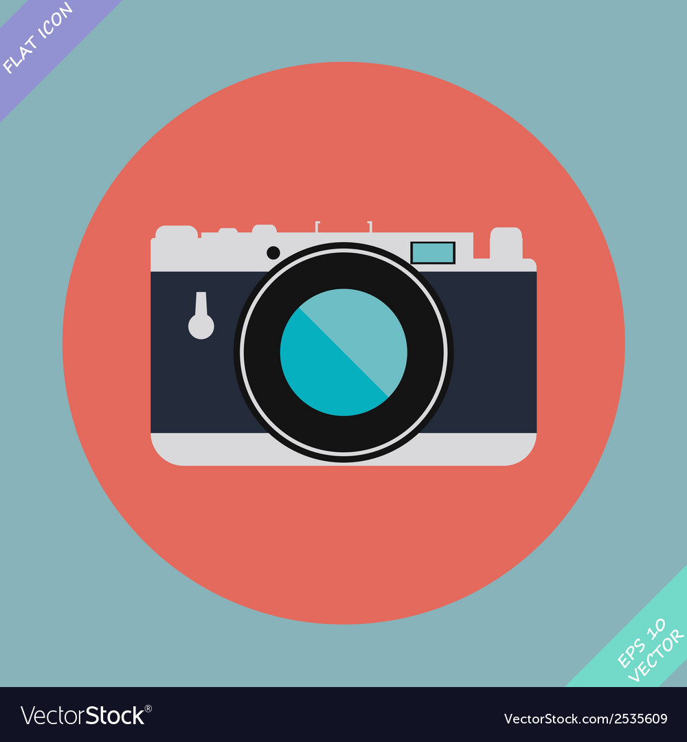 Vintage camera icon - vector | Price: 1 Credit (USD $1)