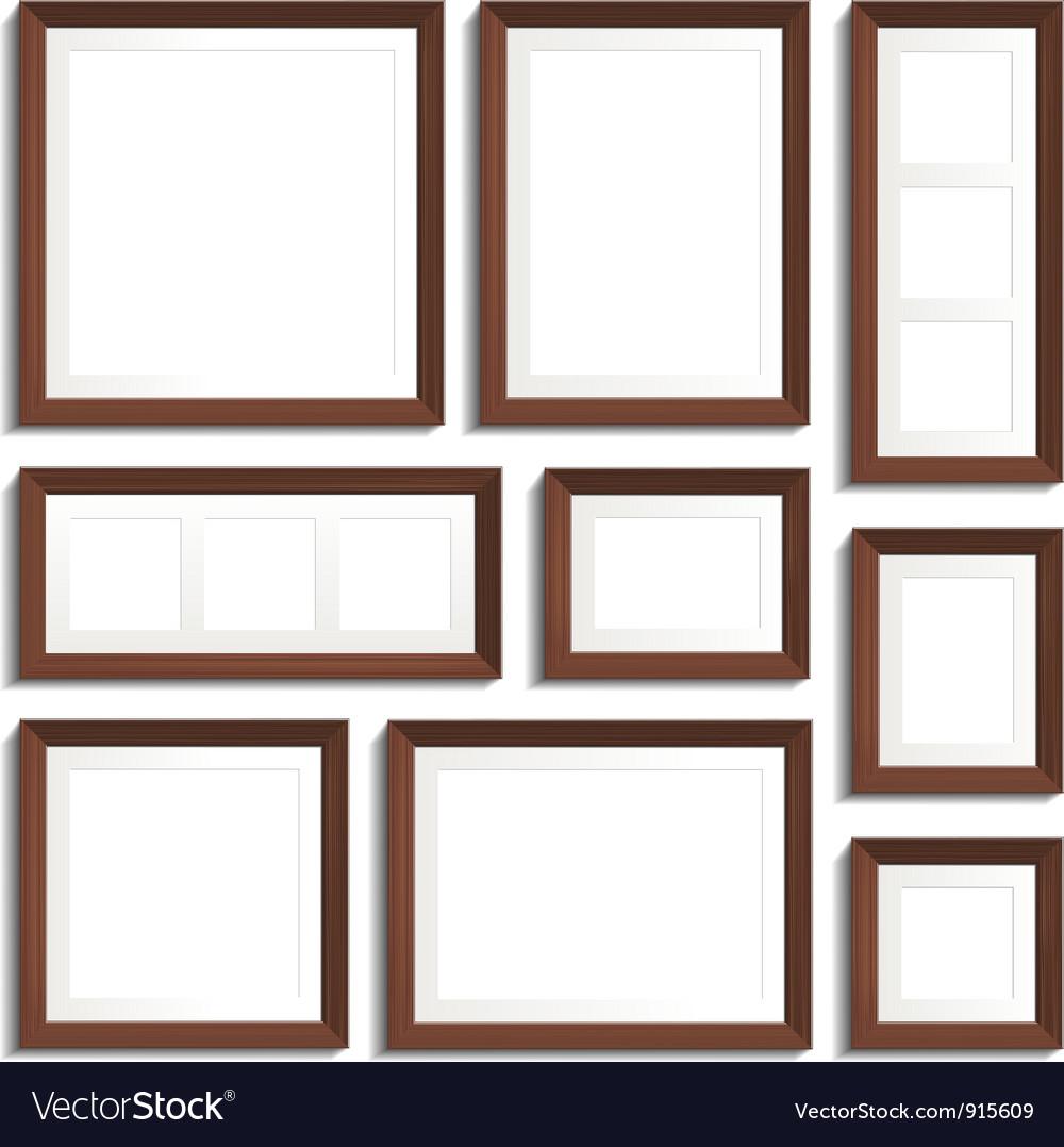 Wenge frames set vector   Price: 1 Credit (USD $1)