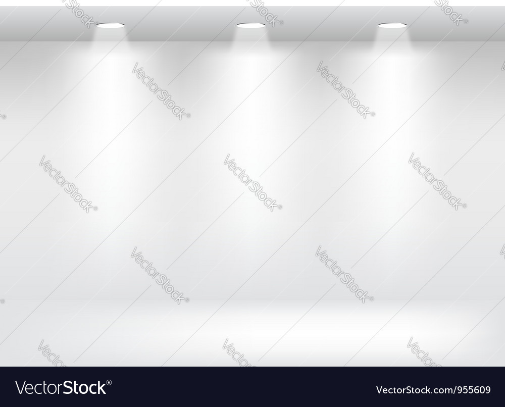 White showcase gallery vector | Price: 1 Credit (USD $1)