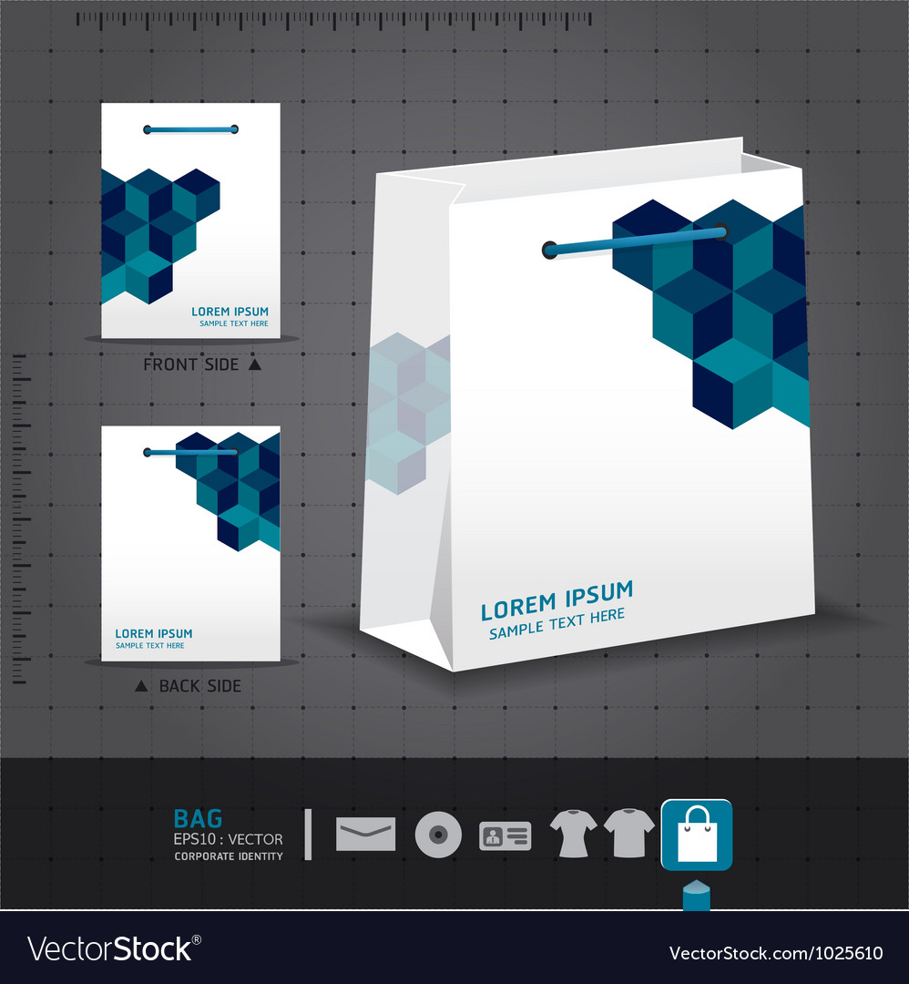 Abstract bag design corporate identity design for vector | Price: 3 Credit (USD $3)